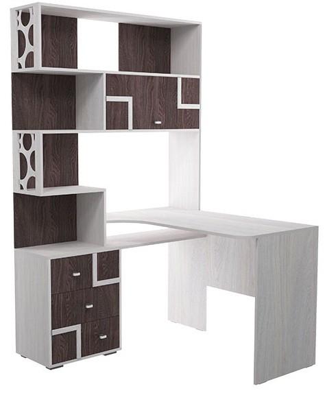 омега 16 стол письменный с надстройкой угловой фант мебель